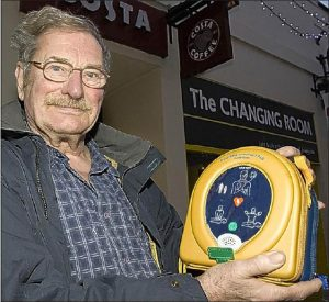 Without the help of a heart defibrillator, Penzance man Keith Austin would not be here today.