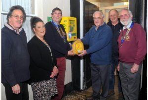 The presentation of a defibrillator at the St. Day Inn