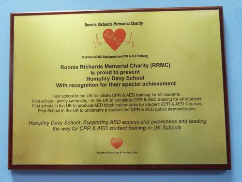 HDS Award Plaque